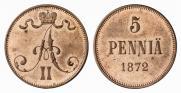 5 пенни 1872 года