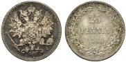 25 пенни 1889 года