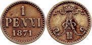 1 penni 1871 year