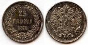 25 пенни 1875 года