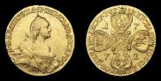 10 roubles 1772 year
