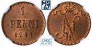 1 пенни 1911 года