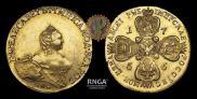 10 рублей 1756 года