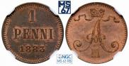 1 пенни 1883 года