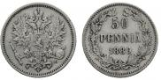 5 pennia 1889 year