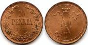 10 пенни 1910 года
