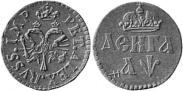Монета Денга 1700 года, Пробная, Медь