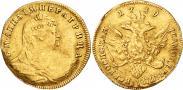Монета 1 червонец 1738 года, , Золото