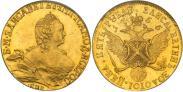 Монета 5 рублей 1755 года, Елизаветин Золотой. Пробные, Золото