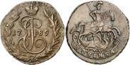 Монета 1 копейка 1793 года, Павловский перечекан, Медь