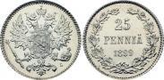 Монета 25 пенни 1917 года, , Серебро