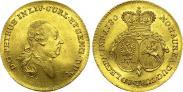 Монета Дукат 1780 года, Петр Бирон. Курляндия, Золото