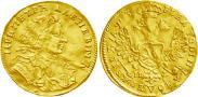 Монета 1 червонец 1707 года, , Золото