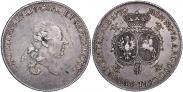 Монета Талер 1780 года, Петр Бирон. Курляндия, Серебро