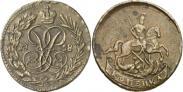 Монета 1 копейка 1757 года, , Медь