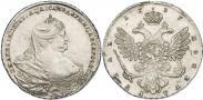 Монета 1 рубль 1738 года, Московский тип, Серебро