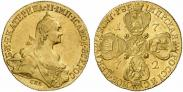 Монета 10 рублей 1776 года, , Золото