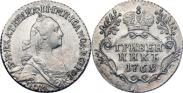 Монета Grivennik 1766 года, , Silver