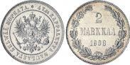Монета 2 марки 1908 года, , Серебро