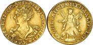 Монета 2 рубля 1727 года, , Золото