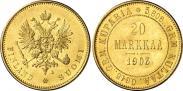 Монета 20 марок 1912 года, , Золото