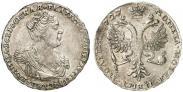 Монета Полтина 1727 года, Московский тип, портрет вправо, Серебро