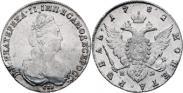Монета 1 рубль 1782 года, , Серебро