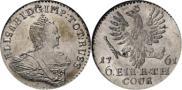 Монета 1/6 талера 1761 года, , Серебро