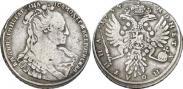 Монета Полтина 1734 года, Тип 1734 года, Серебро
