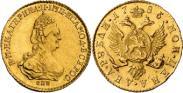 Монета 2 рубля 1785 года, , Золото