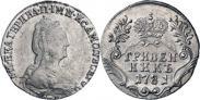 Монета Гривенник 1781 года, , Серебро