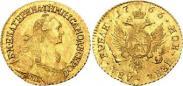 Монета 2 roubles 1766 года, , Gold