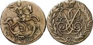 Монета Полушка 1757 года, , Медь