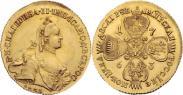 Монета 10 рублей 1762 года, , Золото
