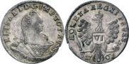 Монета 6 грошей 1760 года, , Серебро