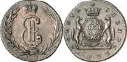 Монета 1 копейка 1780 года, , Медь