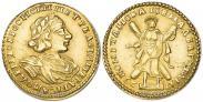 Монета 2 roubles 1723 года, Portrait in armour, Gold