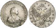Монета 1 рубль 1758 года, , Серебро