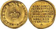 Монета Жетон 1742 года, В память Коронации Императрицы Елизаветы, Золото