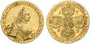 Монета 5 рублей 1764 года, , Золото