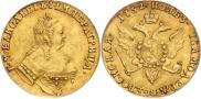 Монета 1 червонец 1755 года, Орел на реверсе, Золото