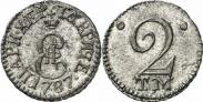 Монета 2 копейки 1787 года, , Серебро