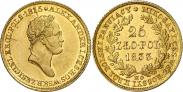Монета 25 злотых 1832 года, , Золото