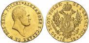 Монета 50 злотых 1818 года, , Золото