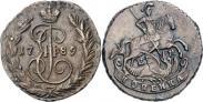 Монета 1 копейка 1789 года, , Медь
