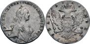 Монета 1 рубль 1775 года, , Серебро