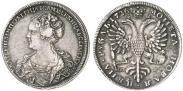 Монета 1 рубль 1725 года, Петербургский тип, портрет влево, Серебро
