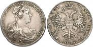 Монета 1 рубль 1727 года, Петербургский тип, портрет вправо, Серебро