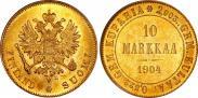 Монета 10 марок 1905 года, , Золото