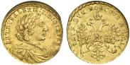 Монета 1 червонец 1714 года, , Золото